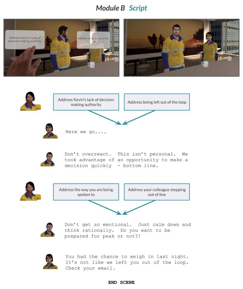 custom vr training for diversity inclusion in the workplace script
